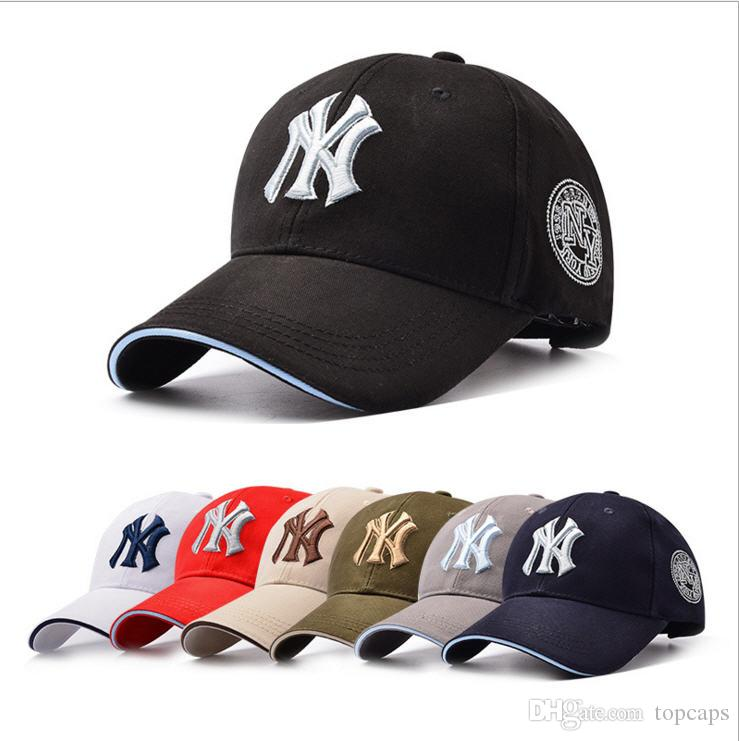 Nouveau 7 couleurs NY Hip Hop MLB Snapback Casquettes NY Casquettes MLB Unisexe