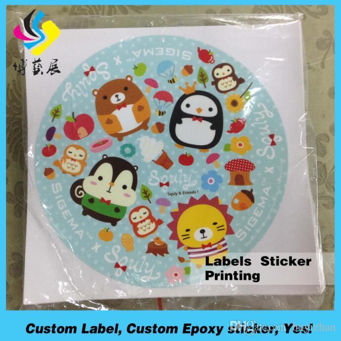 OEM Dome Cartoon Round Custom Nontoxic Sticker Adhesive Sticker - Best custom die cut stickers