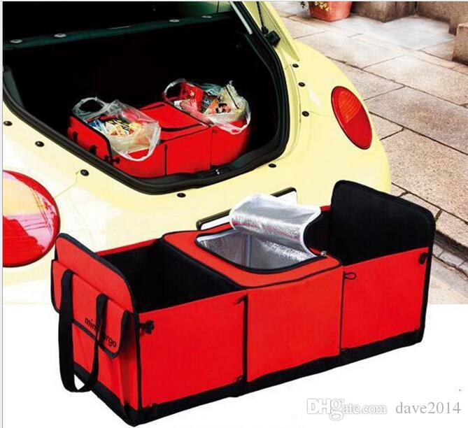 Auto Trunk Organizer With Cooler Bag Multi Durable Collapsible