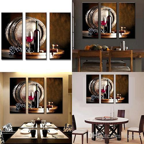 Wholesale modern still life barrel wine paintings wall art