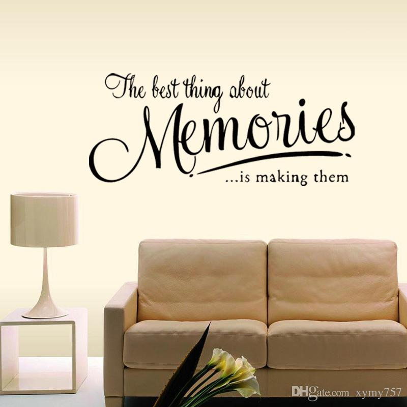 The Memory Wall Quote Decal Removable Stickers Funny Decor Bedroom Sitting Room Vinyl Diy Home