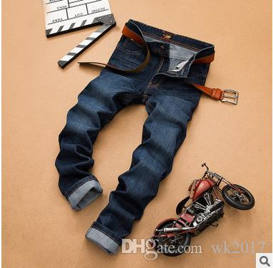 Automne Hiver SU LEE Classic Straight Denim Jeans Hommes Casual Designer Jean Pa