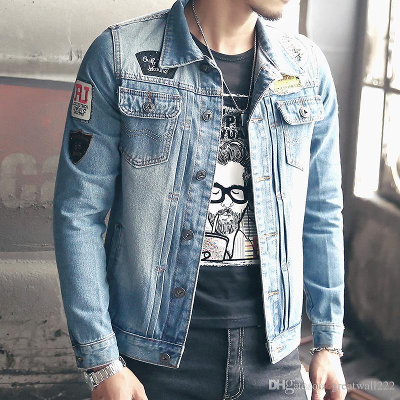 Mens Jackets And Coats 5xl Plus Size Jeans Jacket Men Slim