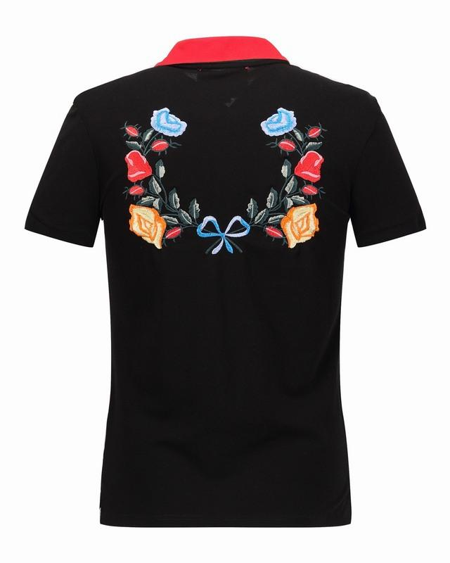 2017 2017 luxury brand men polo shirts summer flower for High end mens shirts