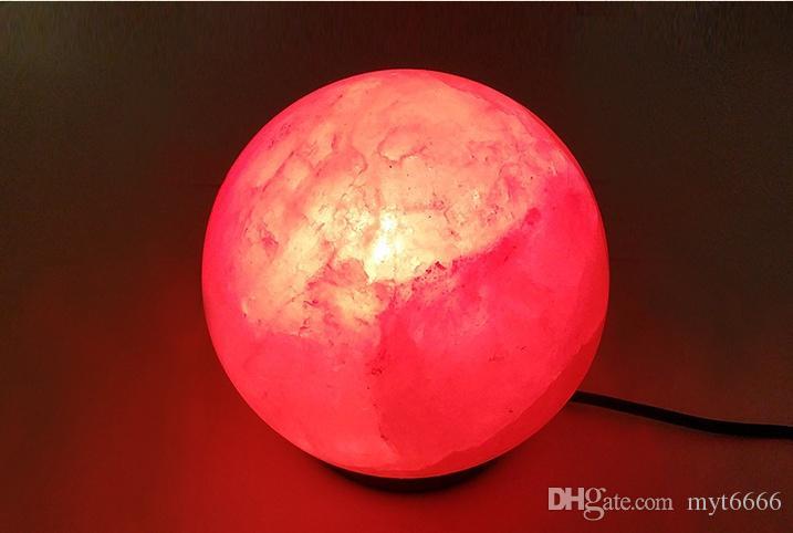 Natural Health Crystal Salt Lamp Adjustable Light Creative Table Lamp Radiation Negative Ion ...