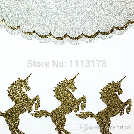 cheap unicorn cupcake toppers gold glitter party supplies wedding decorations birthday party cake topper cheap birthday wedding cupcake toppers