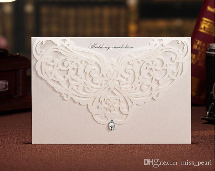unique hollow crystal lace wedding invitation card with supplies free printable cards foil stamping vintage wedding invitations wedding invitations wedding - Elegant Wedding Invitations With Crystals