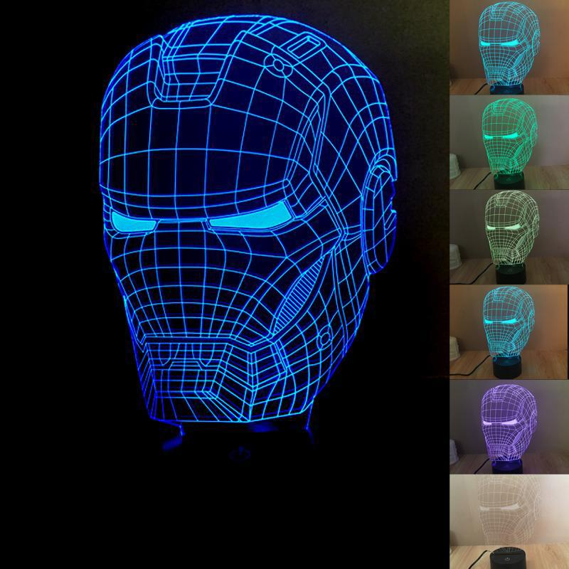 Nouveau 3D Star War Night Light LED Change Lights Lampes de bureau Colorful Deco