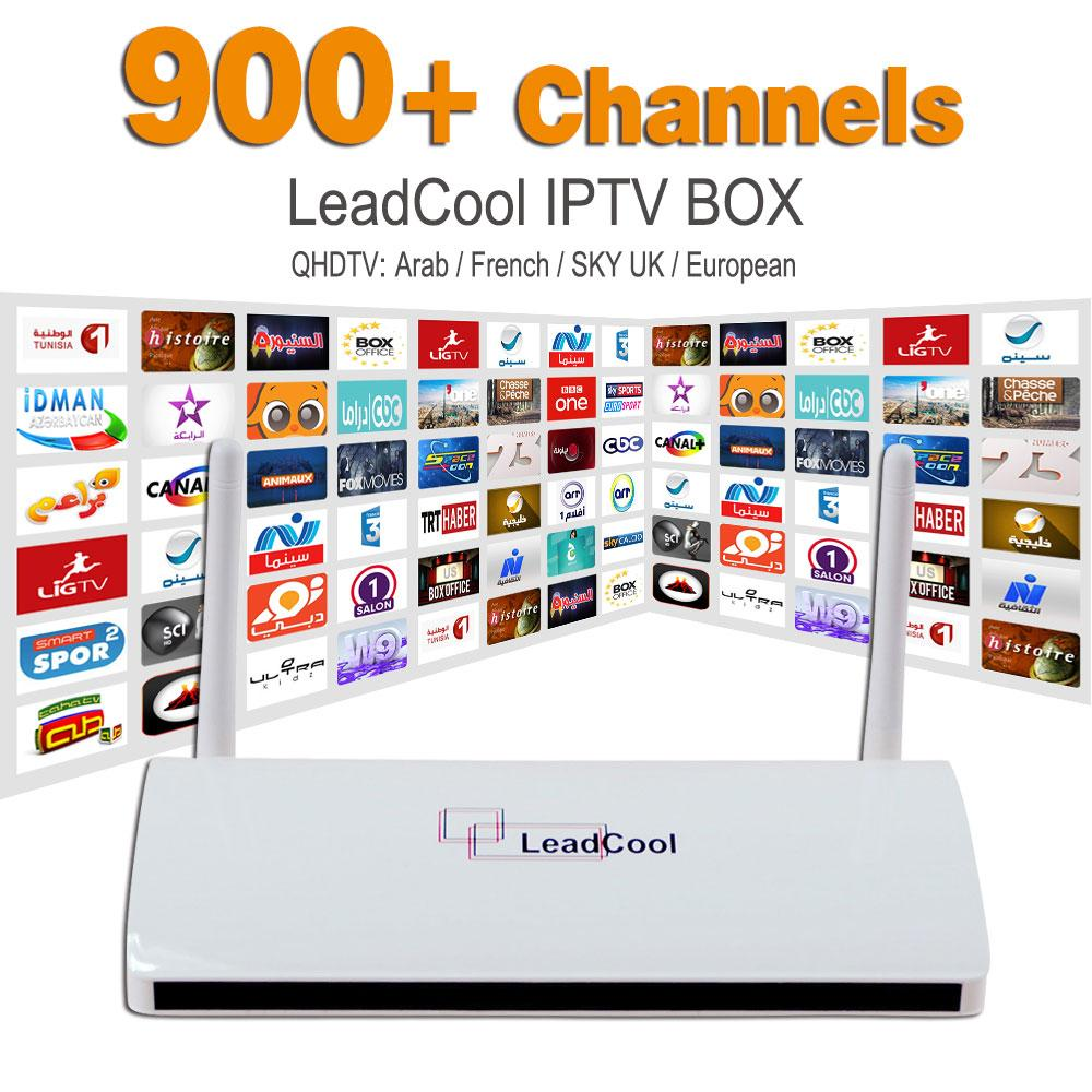 IPTV Streaming Box Leadcool Android Wifi 1G / 8G Italie Portugal Récepteur de ch