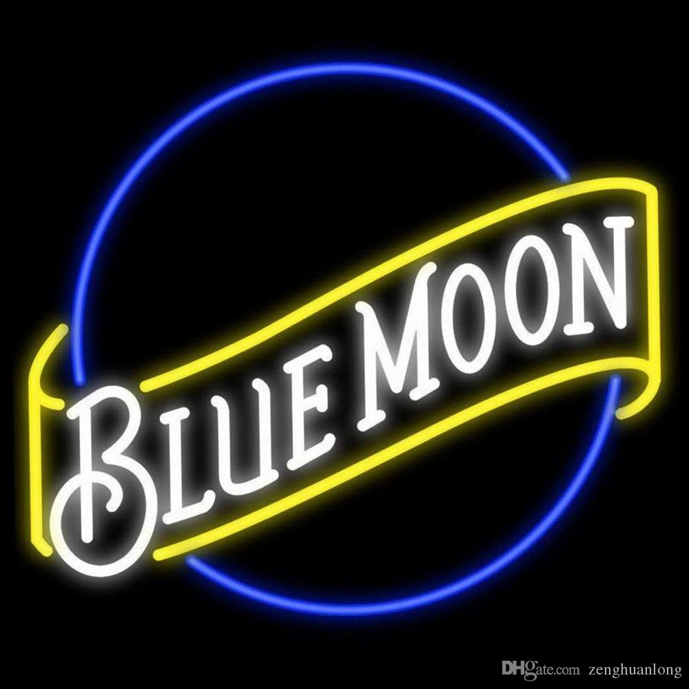 2018 New Handcraft Blue Moon Real Glass Tubes Beer Bar Pub