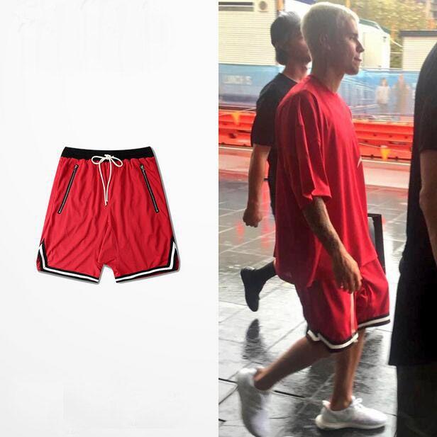 Vintage Basketball Shorts Breathable Justin Bieber Saggy Shorts ...