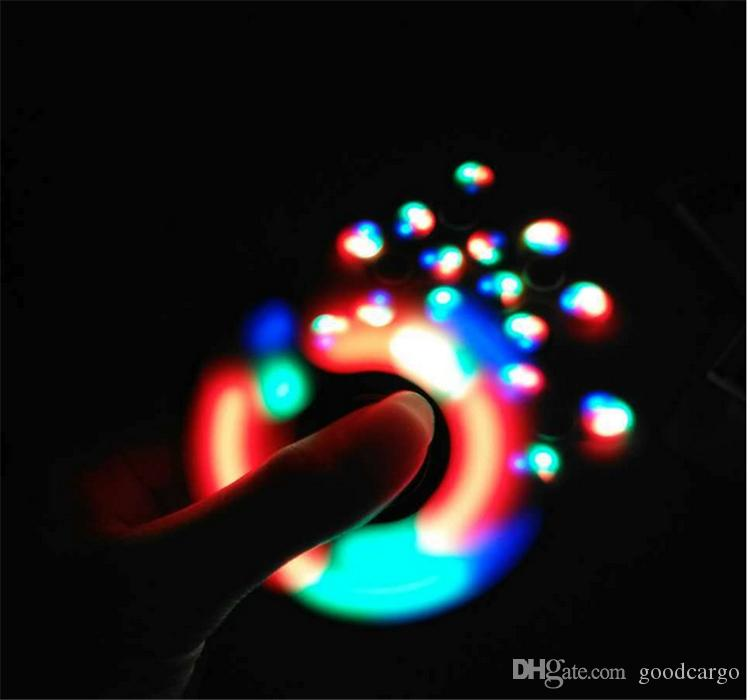 Led light up fidget spinner luminous hand spinners edc for Light up fishing spinners
