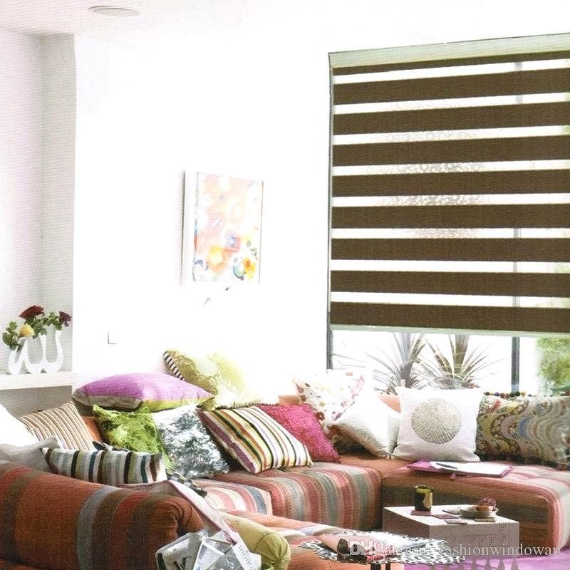 Rainbow Roller Blinds Thickening Window Curtains For Living Room Bedroom Shutter Double Layer Zebra Blind Online With