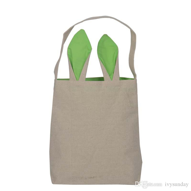 Easter bunny ears handbags cotton and linen easter gift bags fine easter bunny ears handbags cotton and linen easter gift bags fine festival handbags simple storage bags light pouch for kids gifts easter bunny ears negle Image collections