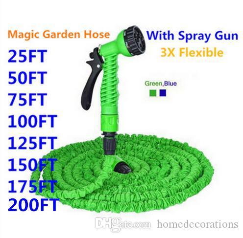 Expandable Magic Flexible Garden Hose To Watering With Spray Gun Garden Car  Water Pipe Hoses Watering 25 200FT Connector EU/US Garden Water Pipe  Expandable ...