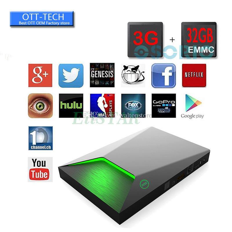 M9S Z9 3 Go 32 Go Smart TV Box Amlogic S912 Android 6.0 4K Octa Core 2.4G 5GHz D