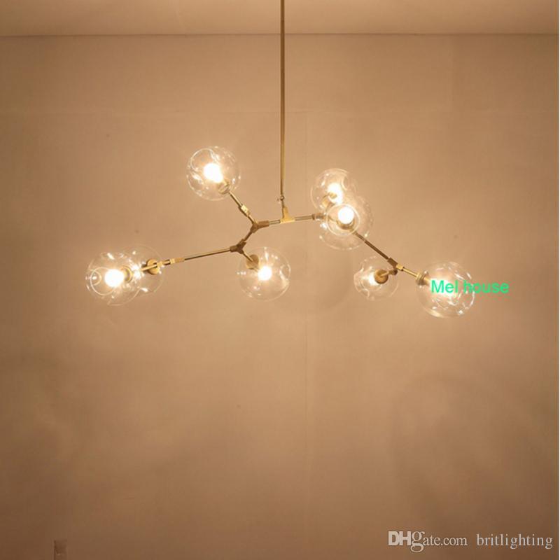Lamp Globe Glass Chandelier Lamp Branching Bubble Modern ...