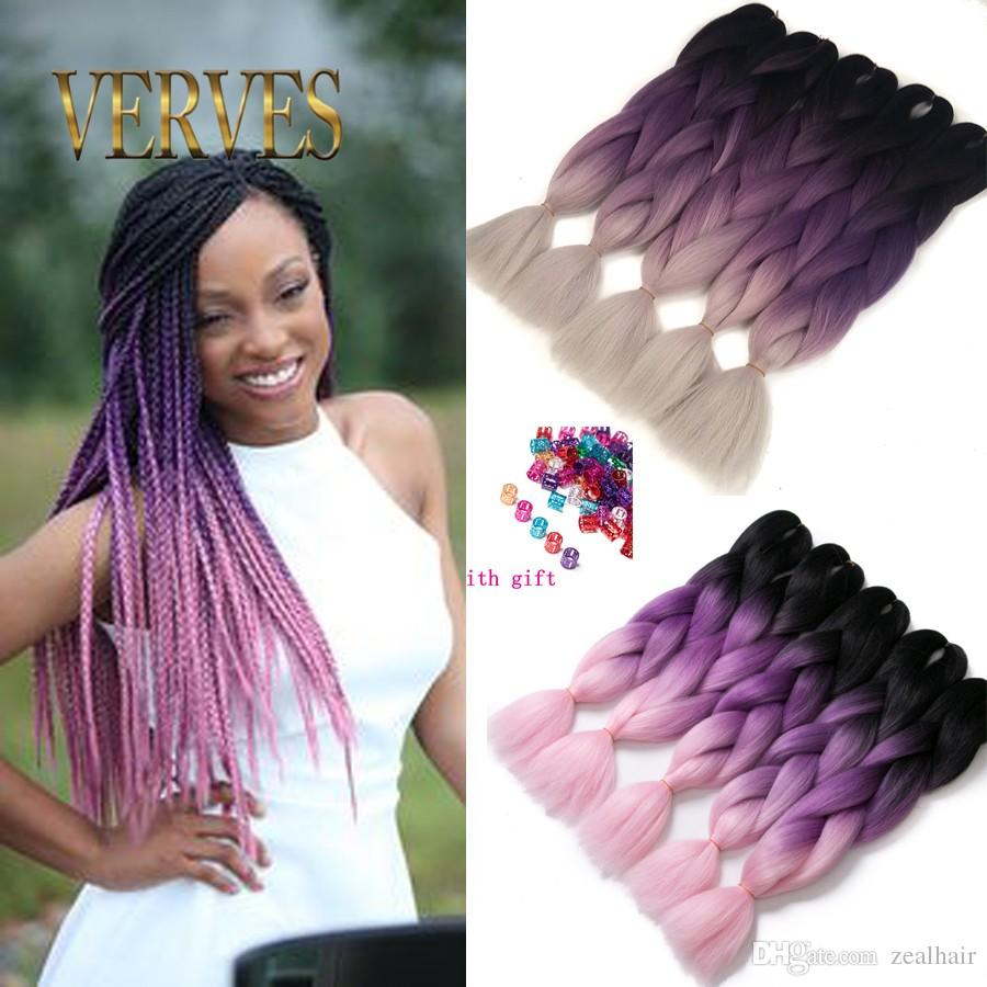 Verve three tone ombre purple braiding hair beautiful expression verve three tone ombre purple braiding hair beautiful expression braiding hair 100gpce ombre jumbo braid synthetic hair extensions ombre synthetic jumbo pmusecretfo Choice Image