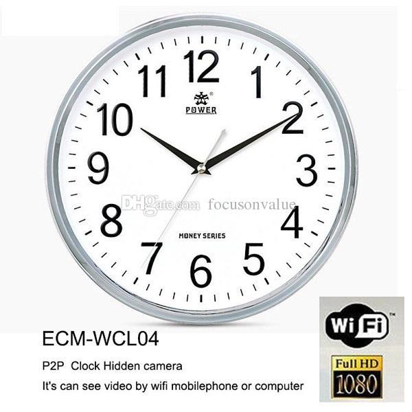 1080P Clock Spy Camera P2P WIFI Round Wall Clock Hidden IP Camera