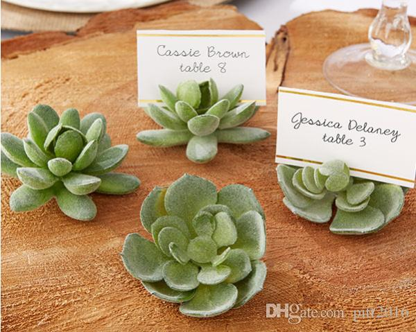 natural design green succulent place card holders table number holder shower favors place card holders green succulent table holder online