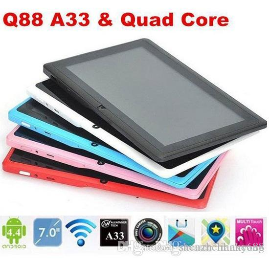 Stock US / UK / CHINA! Allwinner 7 pouces Android 4.4 tablette PC A33 Quade Core