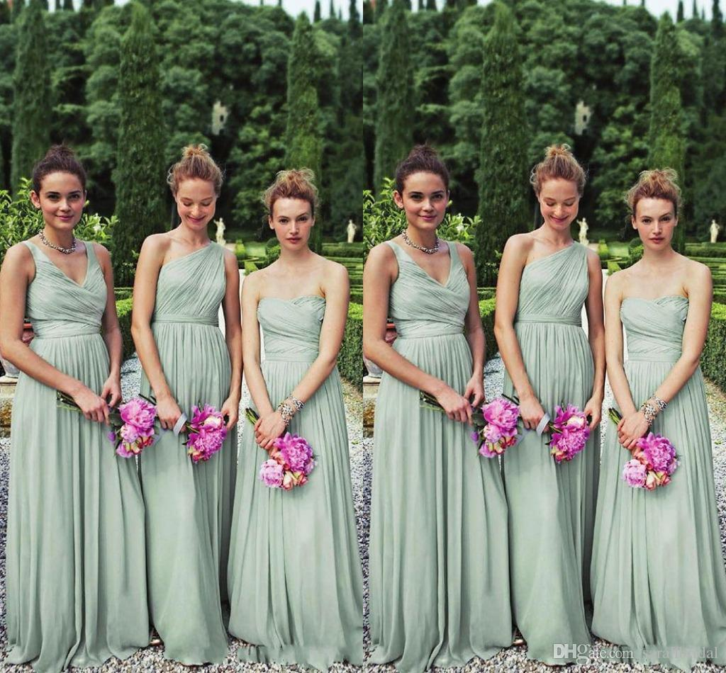 2017 perfect matching 3 styles long mint chiffon bridesmaid 2017 perfect matching 3 styles long mint chiffon bridesmaid dresses one shoulder a line floor length chiffon bill wedding party 2y prom gown turquoise ombrellifo Image collections