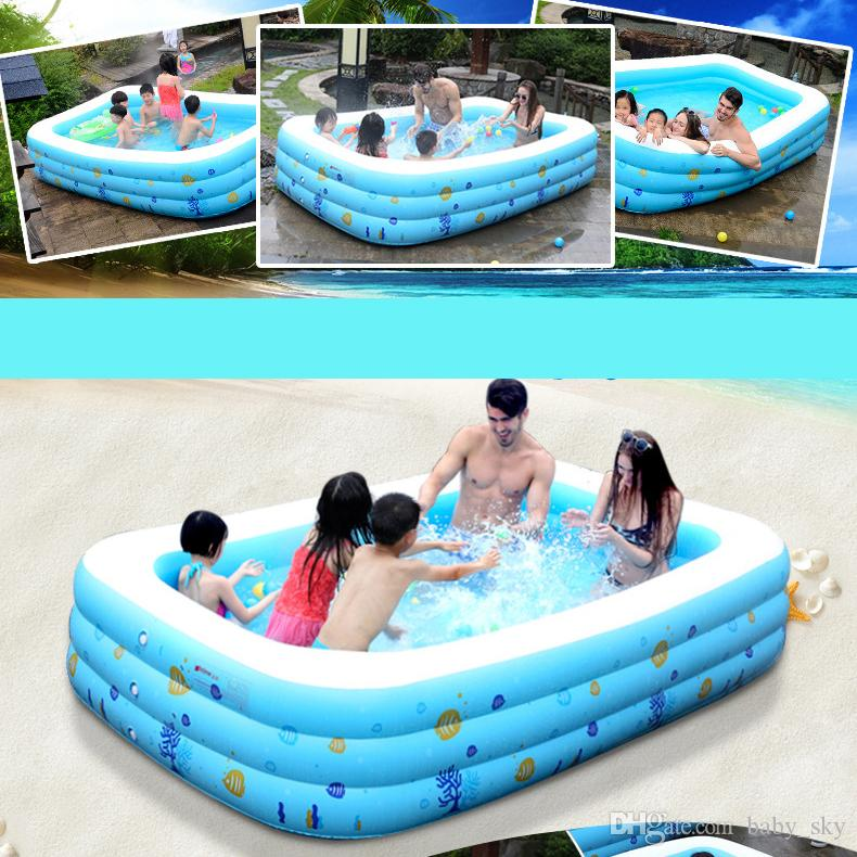 Baby Inflatable Swimming Pool For Adult Kids Cartoon Tub Portable Home Outdoor Swim Toys With