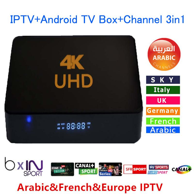 Nouvelle IPTV Box Quad Core Espagne Portugal Turkish Holland IPTV + Android TV B