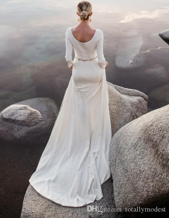 Beach Wedding Dresses Older Brides : Beach bridal gowns sleeves custom made cheap wedding mature