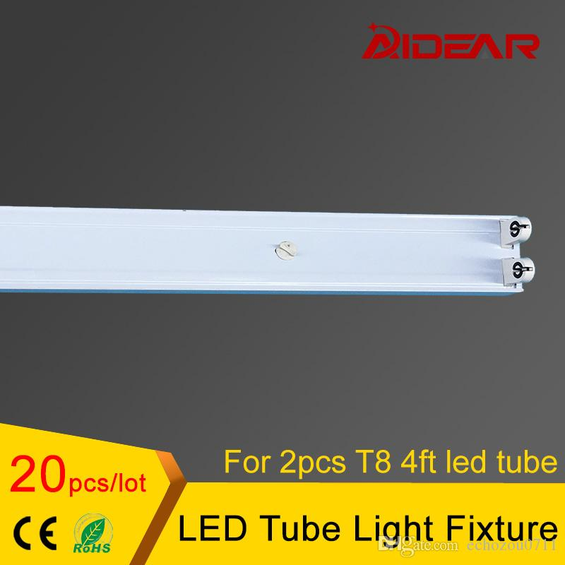 1200mm 4ft T8 LED tube de fixation pour 2pcs T8 conduit tube lumière 20pcs / lot