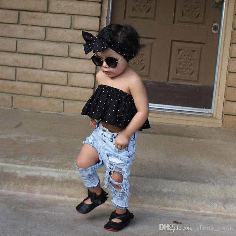 fashion baby denim pants boys girls jeans cool pant ripped. Black Bedroom Furniture Sets. Home Design Ideas
