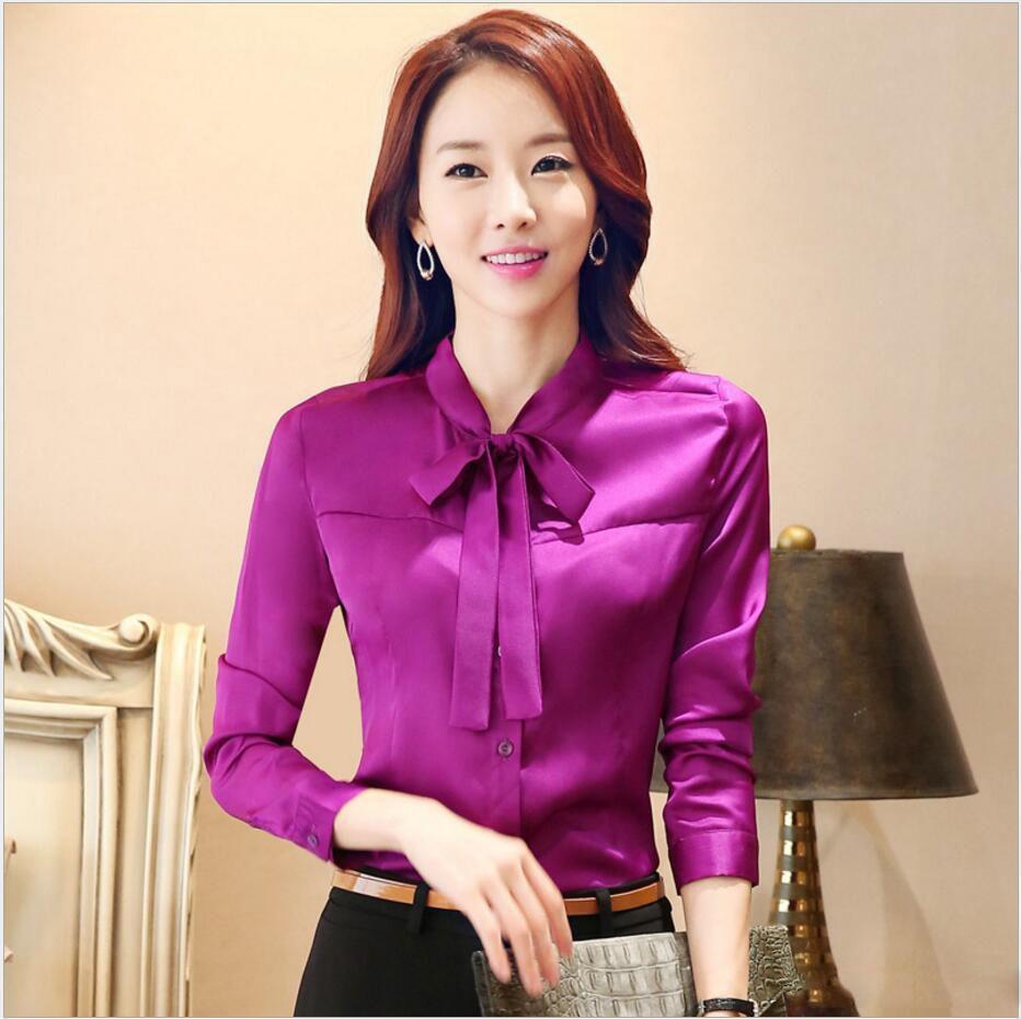 Women Wearing Satin Blouses 104