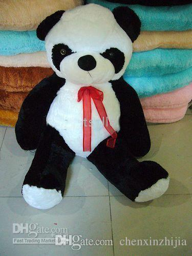 2017 wholesale cheap giant huge big 40 63 panda bear stuffed plush animal toy high quality. Black Bedroom Furniture Sets. Home Design Ideas