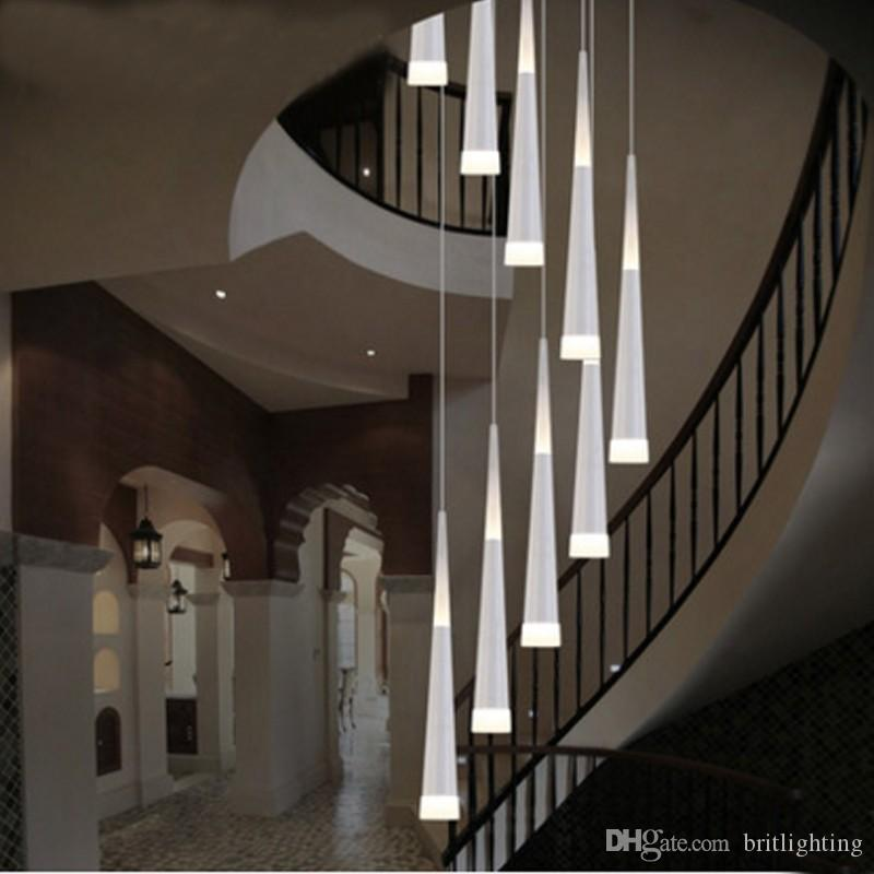 Led Rain Drop Lights Long Spiral Chandelier Indoor Staircase Lighting  Modern Staircase Lamp Spiral Lights Aisle Hallway Pendant Lamps Indoor  Staircase Led ...
