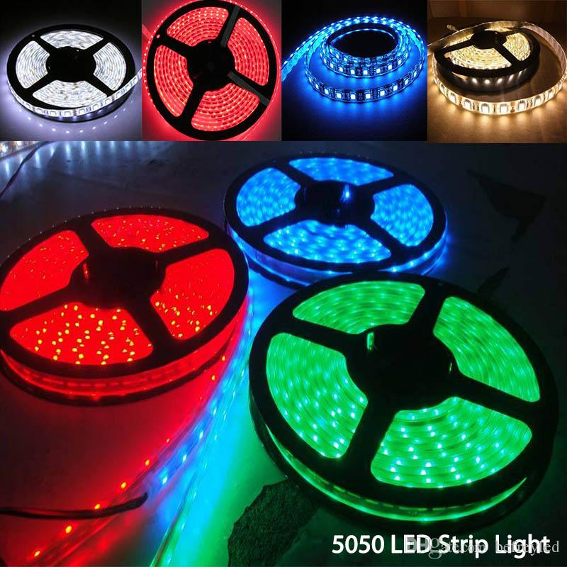 SMD 5050 Led Strip Light Best Quality DC 12V RVB coloré imperméable à l'eau LED