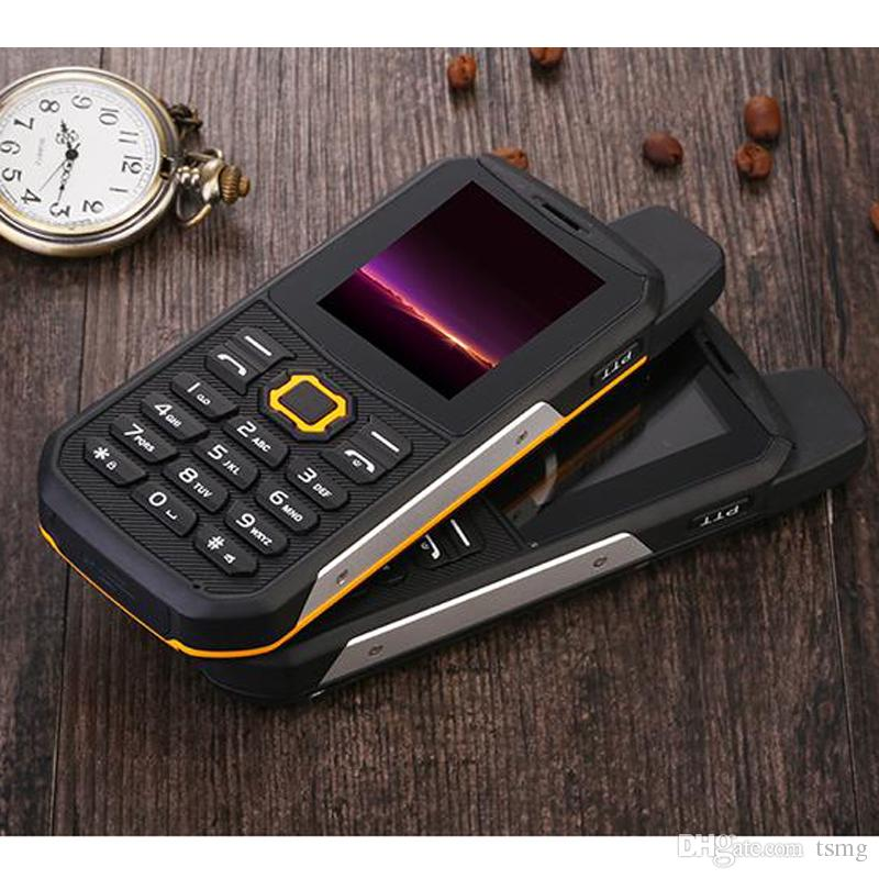 Original F8 imperméable à l'eau 2400mAh Big Butterfly Senior Rugged Mobilephone
