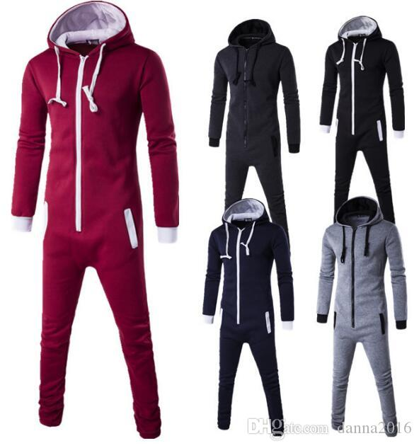 New Autumn Rompers Combinaisons pour hommes bodycon jumpsuit Males playsuits 201