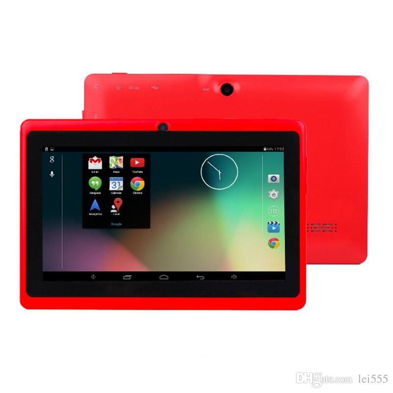5X Quad Core 7inch Q88 double caméra A33 Quad Core Tablet PC Android 4.4 OS Wifi