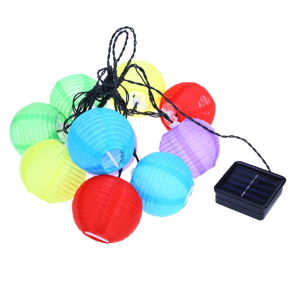 Wholesale 20 Led Outdoor Lantern Ball Solar String Lights Fairy Globe Christm