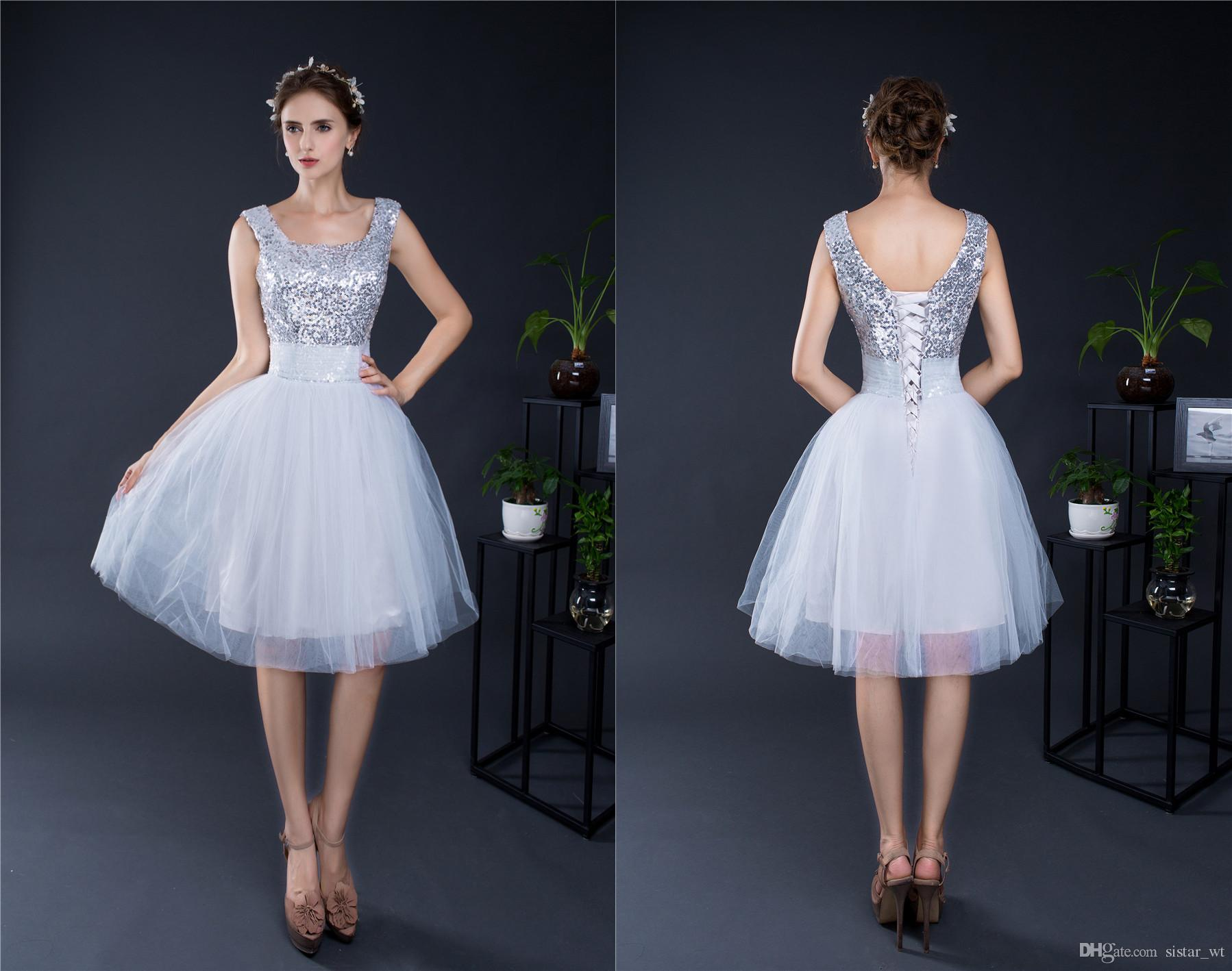 2017 charming sexy sequins silver short women cocktail gowns lady 2017 charming sexy sequins silver short women cocktail gowns lady big girls back to school homecoming prom party evening mini dresses short bridesmaid ombrellifo Choice Image
