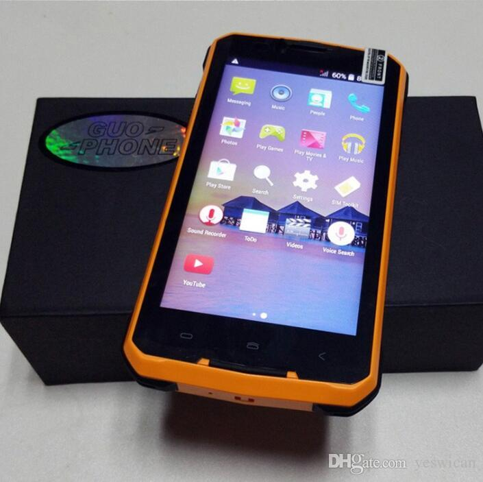 5pcs DHL Waterproof 3G Rugged Smartphone 5 pouces Android 4.4 Dual Core 512 Mo R