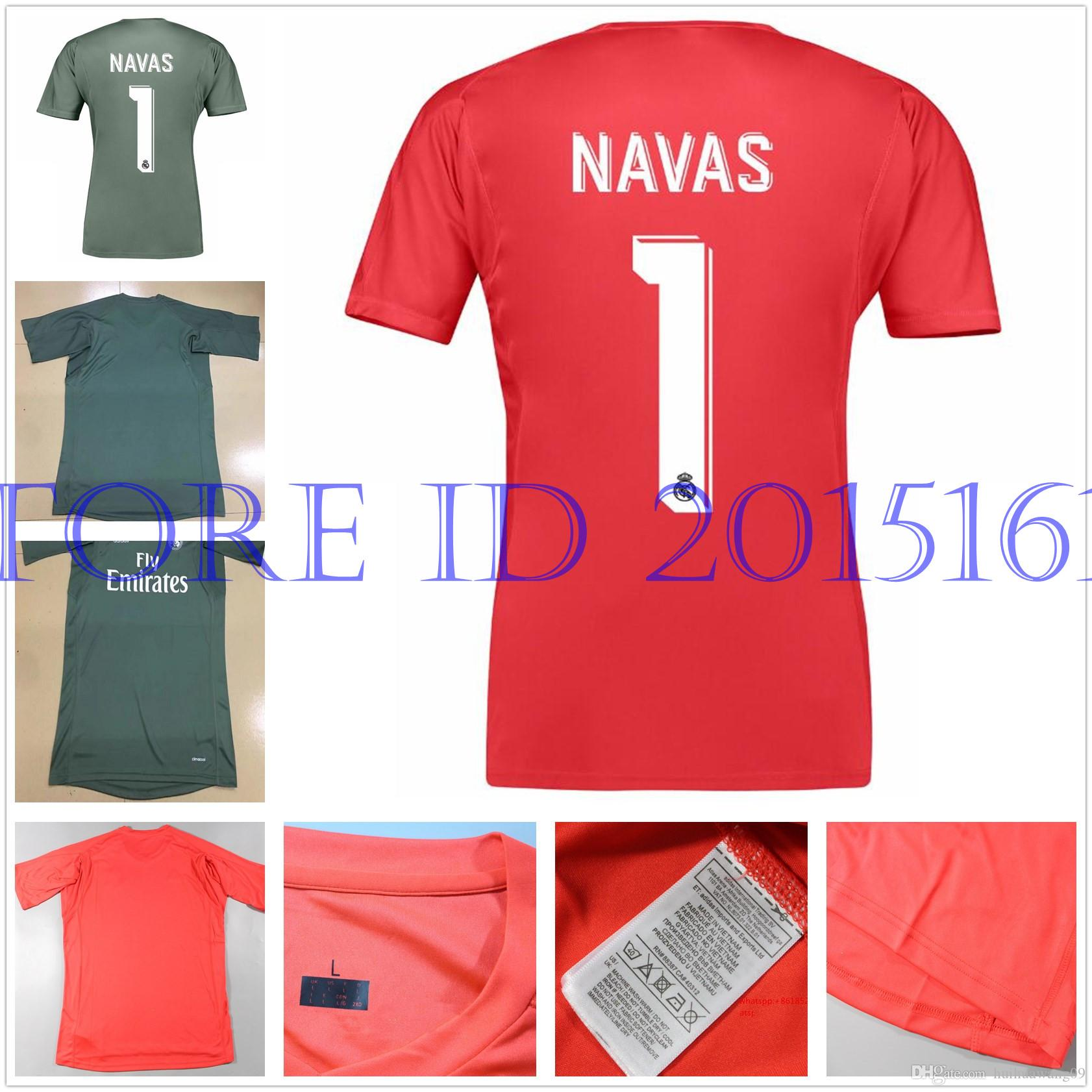 595920e03e5 ... real home 1516 2017 2018 real madrid goalkeeper jerseys 17 18 keylor  navas jersey camiseta de