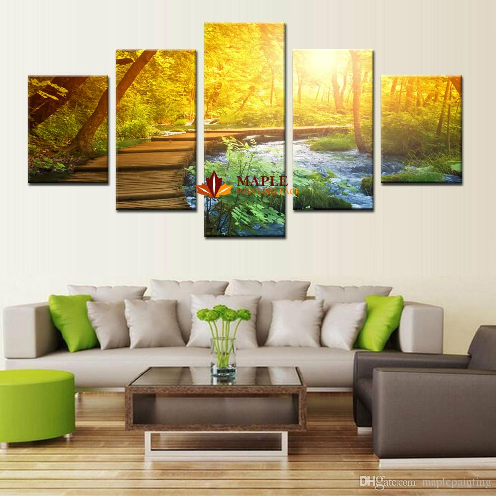 Modern Wall Art Canvas Printed Painting Decorative Sunset