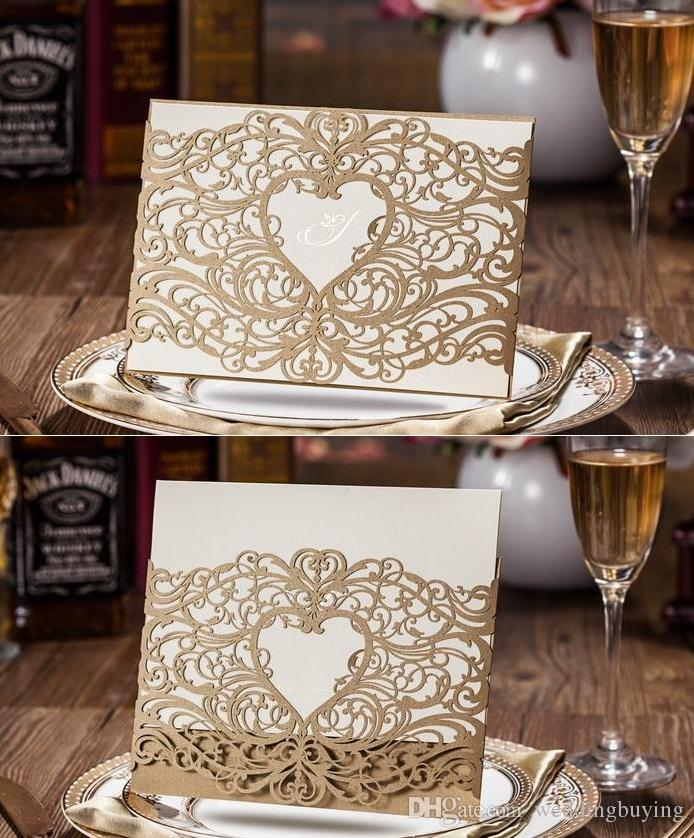 hot wholesale wedding invites laser cut hollow heart shape wedding invitation cards new designs in good price dhl wedding invitations sample wedding