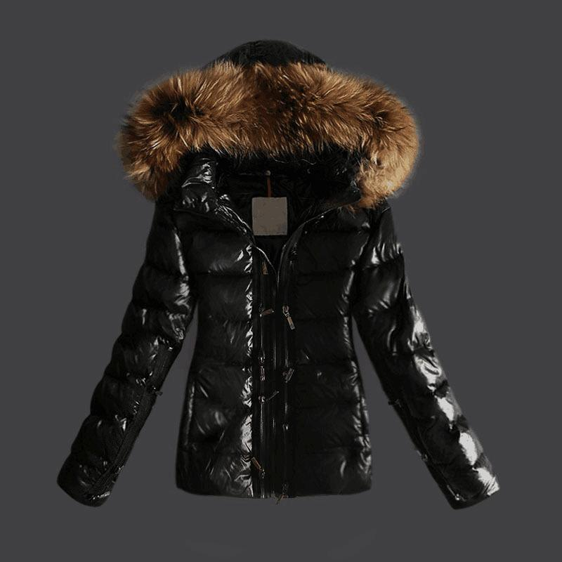 Women Jackets Glossy Parka Duck Down Coats Female Clothes Real ...