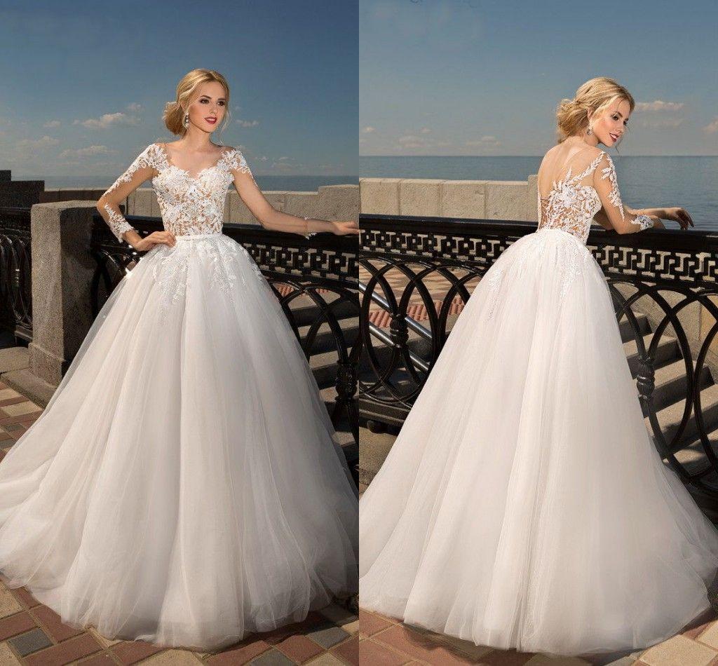 Discount Elegant Charming Long Sleeve Wedding Dresses 2017