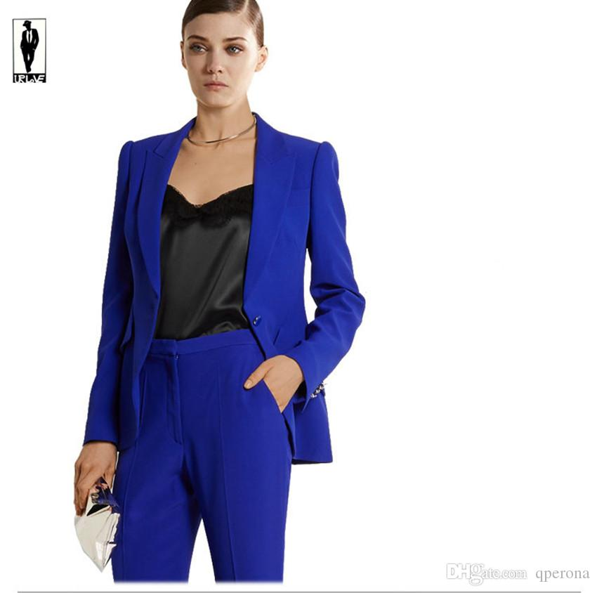 UR 71 Custom Royal Blue Bussiness Formal Elegant Women Suit Set ...