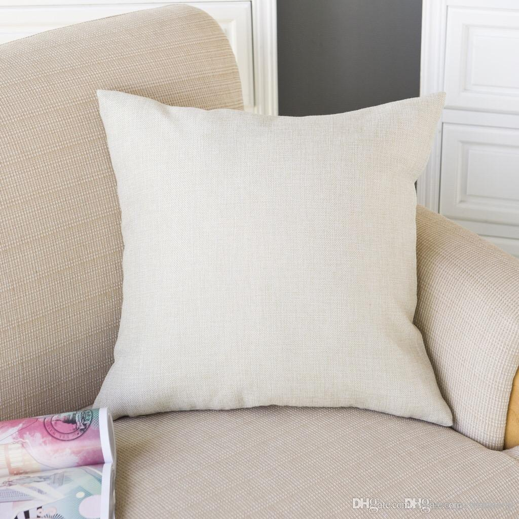 Throw Pillow Blanks : Wholesale Home Throw Cotton Linen Blank Pillow/Linen Sleeping Cotton Pillow/Wholesale Custom ...