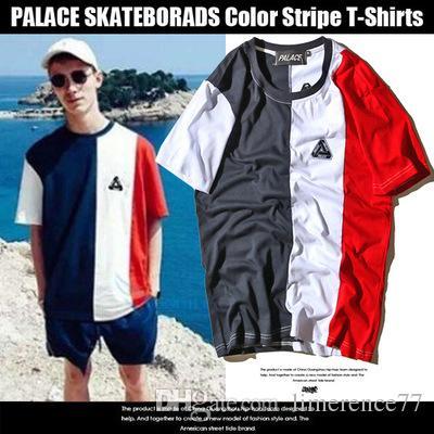 Palace Skateboards Stripe Tide Brand Clothing Off Men 39 S T