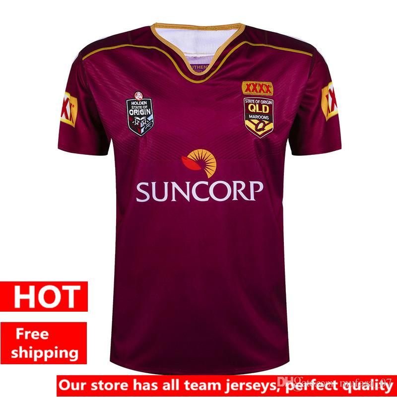 Hot ventes 2017 NRL National Rugby Wear League Queensland Maroons Rugby QLD Maro